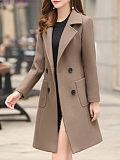 Image of New Korean style fashion temperament mid-length woolen coat