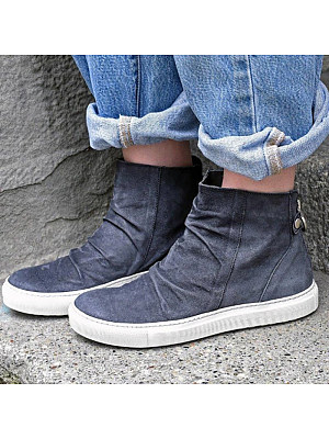 Women's Warm Flat Heel Round Toe Casual Shoes, 10559119