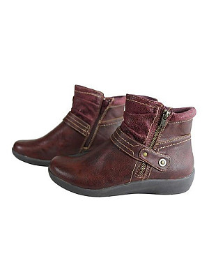 BERRYLOOK Women's Vintage Sequined Flat Ankle Boots