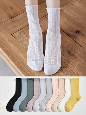 Spring And Autumn Pure Cotton Breathable Tube Socks