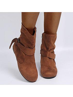 BERRYLOOK Women's Casual Buckle Boots
