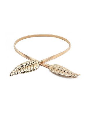Metal Leaf Elastic Belt