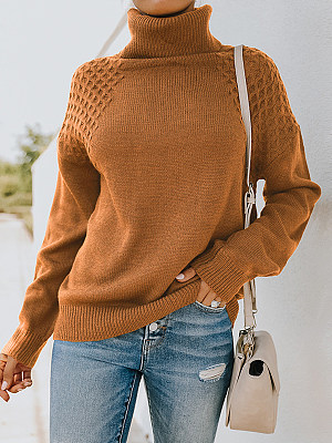 Turtleneck Sweater Long Sleeve Pullover