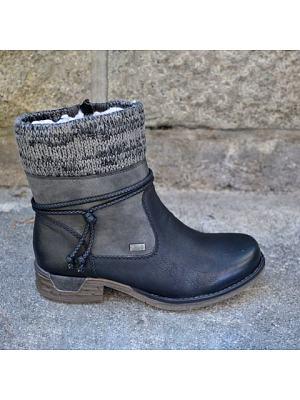BERRYLOOK Women's Retro Woolen Martin Boots