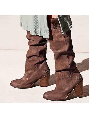 Berrylook coupon: Women's Suede High Heel Rider Boots
