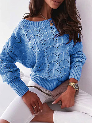 Women's Bat Sleeve Off-the-shoulder Sweater