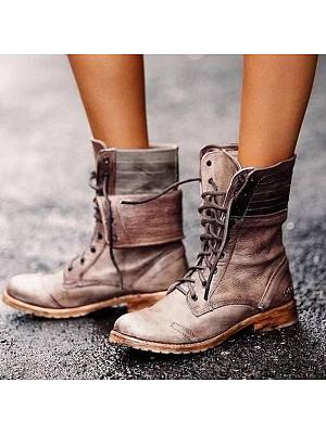 BERRYLOOK Women's Breathable Lace-up Martin Boots