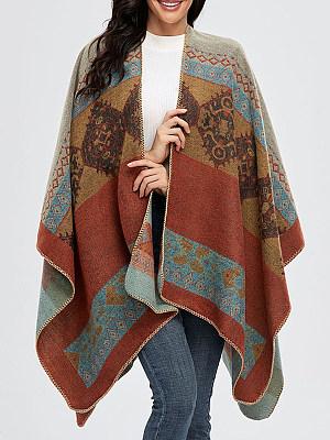 Autumn And Winter Retro Split Warm Scarf Cloak