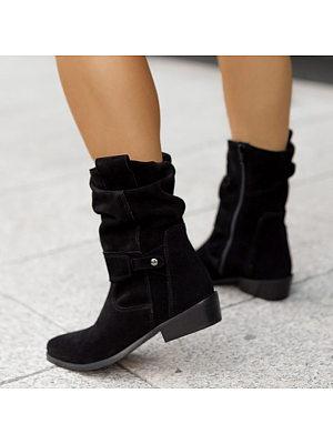 BERRYLOOK Women's Metal Buckle Boots
