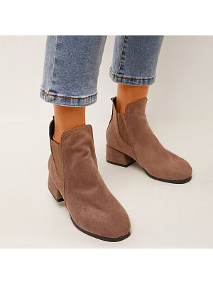 BERRYLOOK Micro Suede Ankle Boots