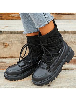 BERRYLOOK Fashion Mid-Heel Casual Martin Boots
