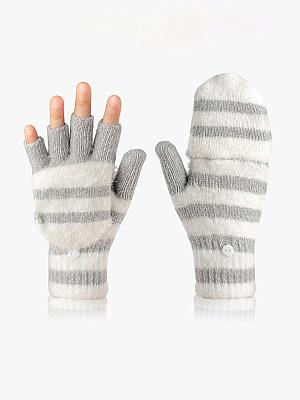 Winter Half Two-way Wear Knitted Gloves