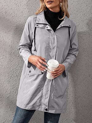 Loose Casual Raincoat Zipper Jacket