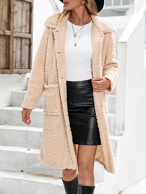 Lapel Long Single-breasted Jacket