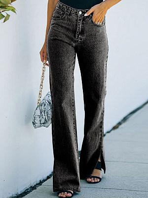 Slit Long Jeans