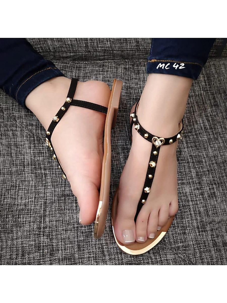 BerryLook Women's Flat Sandals with Sandals