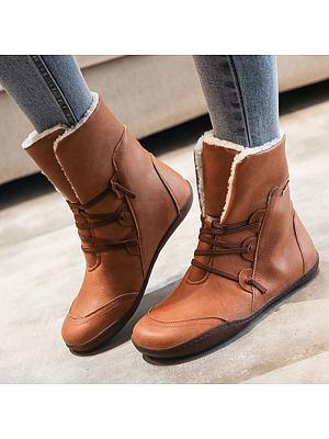 New Plus Velvet Warm Ladies Snow Boots