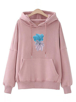 Women's velvet wild Hoodie gender:female, season:autumn,winter,spring, texture:cotton blend, pattern_type:printing, sleeve_length:long sleeve, style:japanese and korean style, collar_type:hat collar, dress_occasion:daily, bust:112,clothing length:59,shoulder width:59,