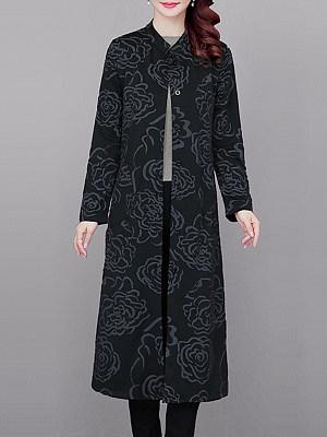 Temperament Print Long Coat, 11261294