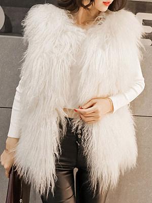 Women's Fashion Pure Color Mid-length Sleeveless Waistcoat