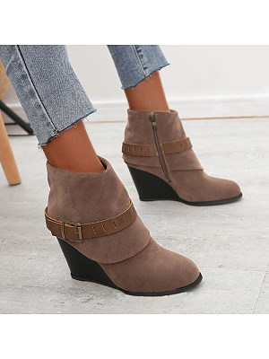 berrylook Women's fashionable and comfortable wedges boots