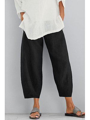 Solid Color Casual Fashion Nine Points Casual Pants