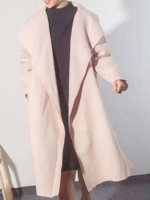 Long fold-over collar coat, 10710657