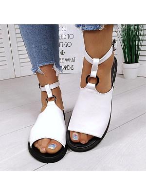 Women's Comfortable Flat Open Toe Sandals, 24147754