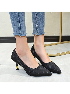 Shallow mouth pointed simple stiletto heels, 11265529