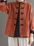 Image of Original ethnic casual corduroy jacket