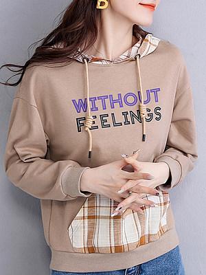 Printed colorblock hoodie