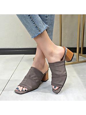 Casual Thick Heel Mesh Open Toe Sandals, 10569974