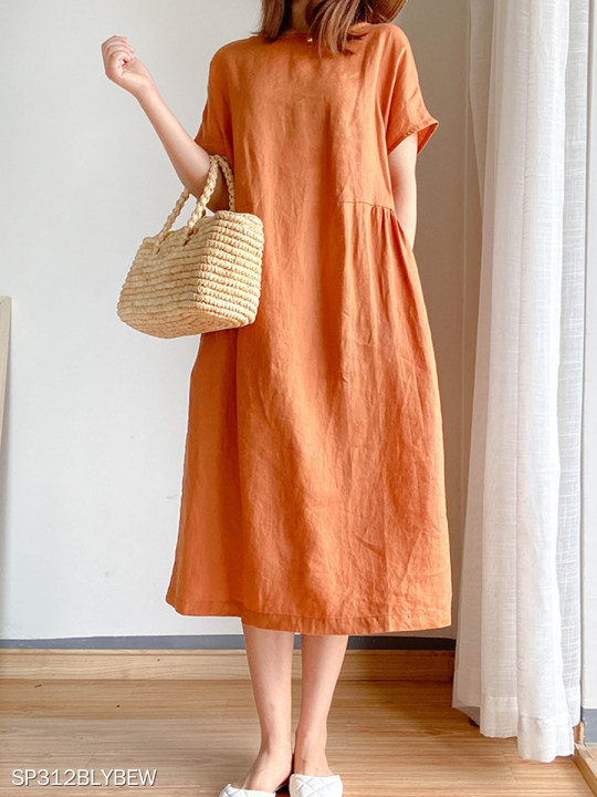 Women Casual Plain Dress