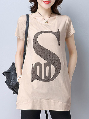 Fashion Print Short Sleeve T-shirt, 11244848