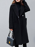 Image of Mid-length quilted padded over-the-knee woolen coat