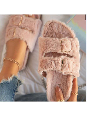 Fashionable and comfortable plush slippers, 25717765