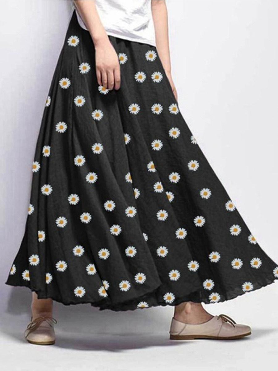 Explosive casual loose daisy print dress