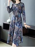 Skirt Slim Slim Long-sleeved Temperament Dress