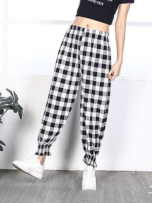 Cool ice silk women trousers drape lantern casual pants