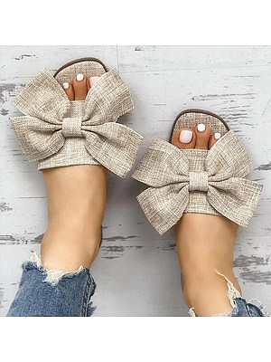 Bowknot outdoor Women Slippers, 11320673