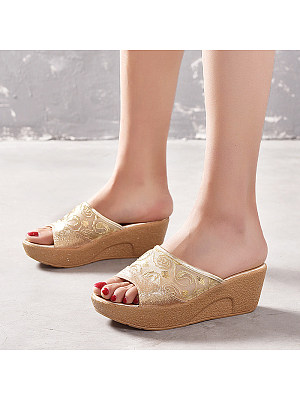 Thick Slope with Fish Mouth Sandals, 23578348