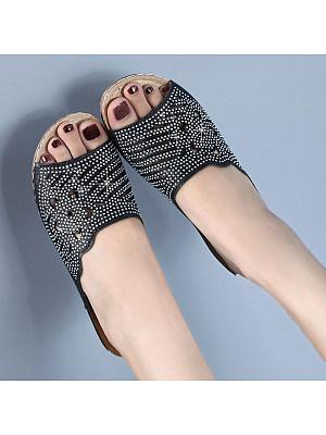 Slippers female slope with fashion rhinestone sandals, 11228494