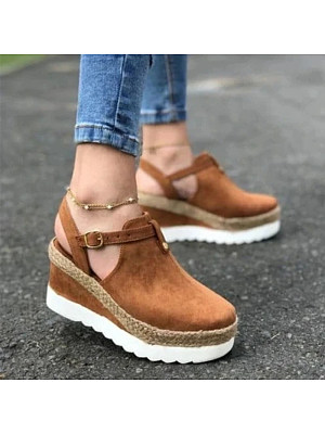 Women's fashion comfortable platform wedge sandals, 23974502