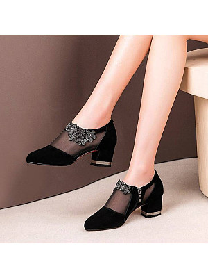 Lace Low Heel Women's Shoes фото