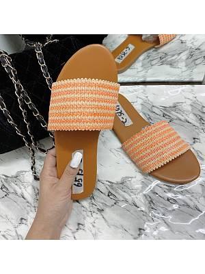 Flat bottom casual women's outdoor slippers, 24110924