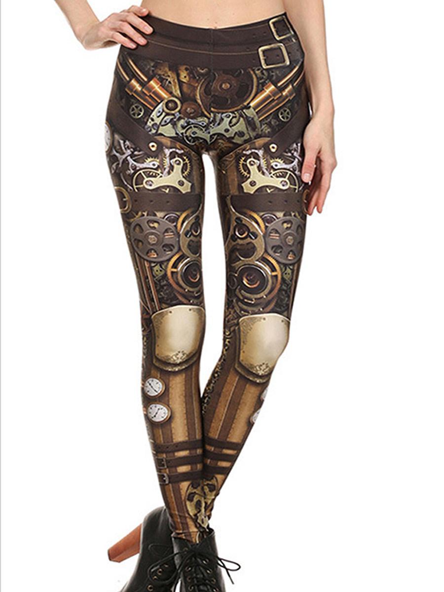 BerryLook Fashion printed stretch tights digital printed leggings