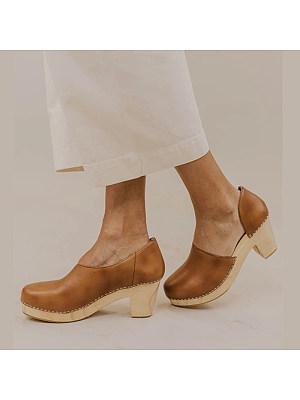 Comfortable square heel women's sandals, 23588958
