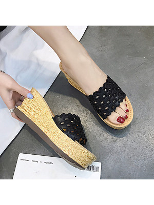 Stylish and comfortable wedge sandals