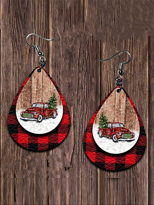 Buy Earrings stores and shops, shoping from Berrylook Apparel & Accessories>Jewelry>Earrings, Berrylook Christmas leather drop earrings is well made of and it\\\'s features are: . Find best Earrings at Berrylook.com