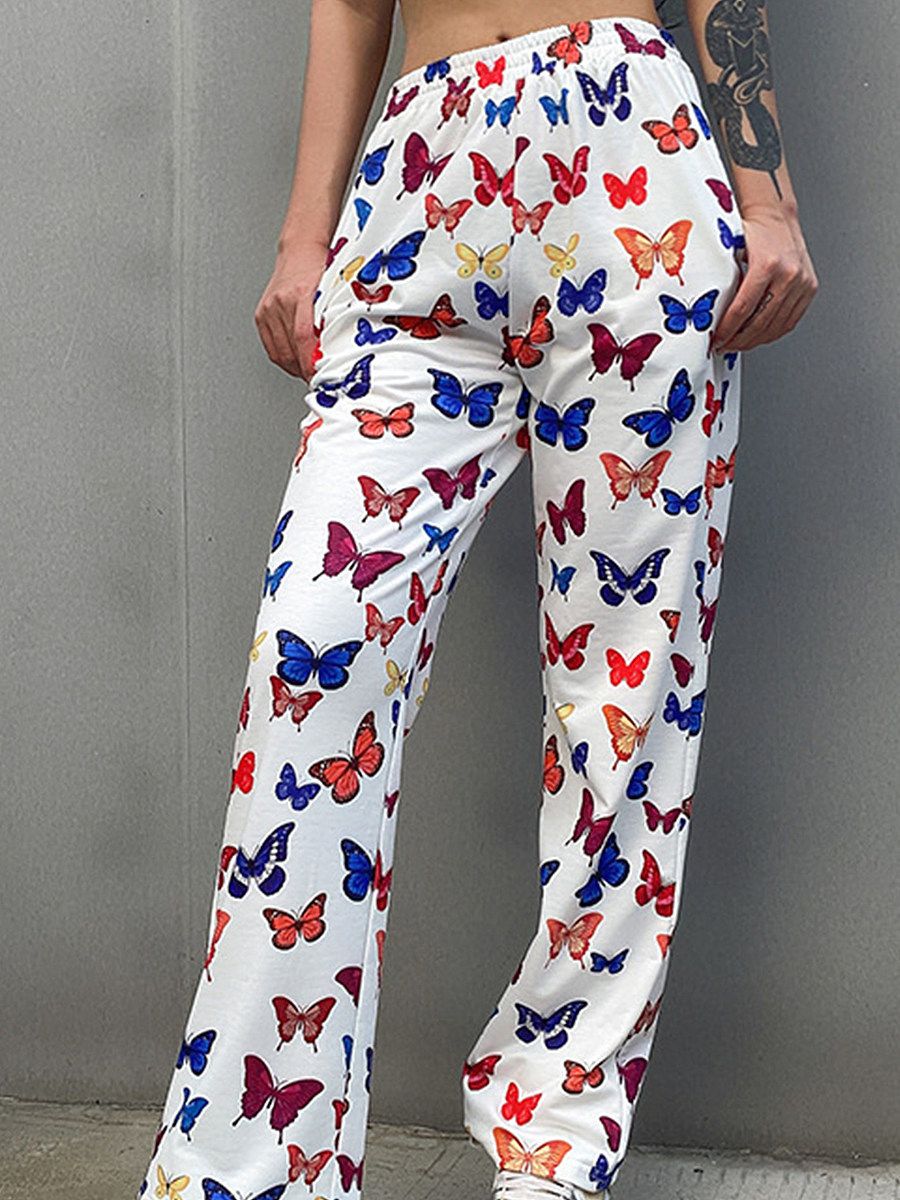 Printed yoga casual trousers